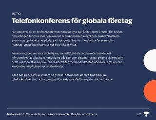 Telefonkonferens för globala företag