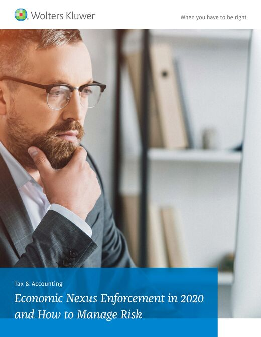 Wolters Kluwer: Economic Nexus Enforcement in 2020 and How to Manage Risk