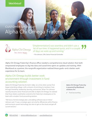 Customer Spotlight: Alpha Chi Omega Fraternity