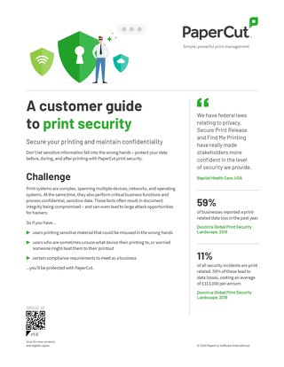 PaperCut Security