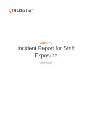 COVID-19 Incident Report for Staff Exposure