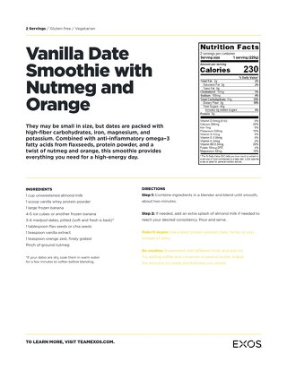 Recipe: Vanilla date smoothie