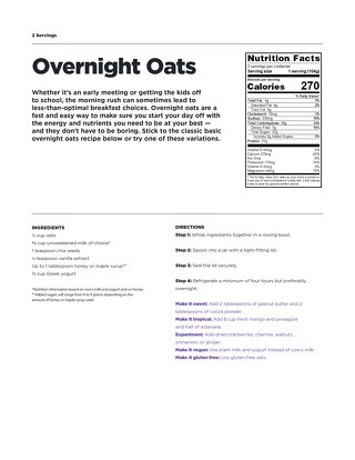 Recipe: Overnight oats