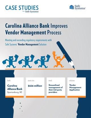 Carolina Alliance Bank - Vendor Management
