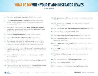 What to Do When Your IT Administrator Leaves