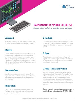Ransomware Response Checklist