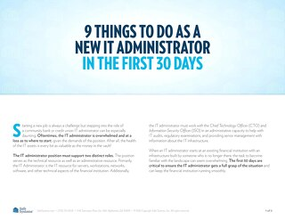 9 Things to Do as a New IT Administrator