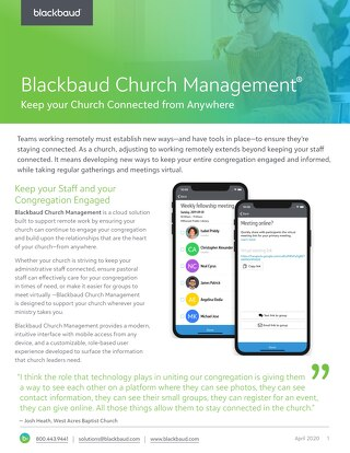 Church Management Remote Datasheet