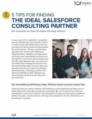 5 Tips Salesforce Consulting Partner One Pager