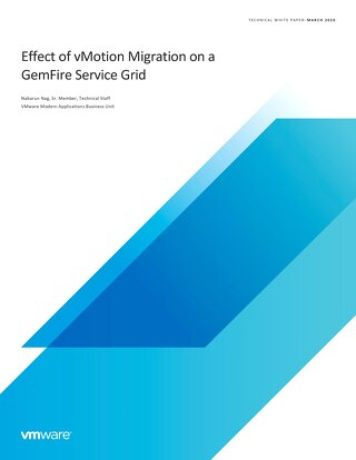Effect of vMotion Migration on a GemFire Service Grid