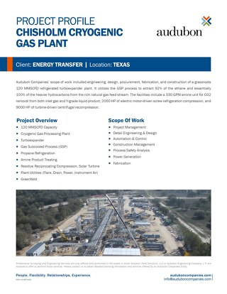 Chisholm Cryogenic Gas Plant