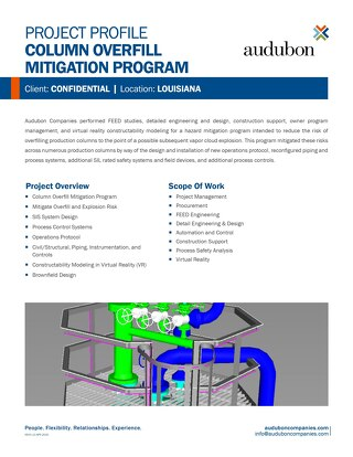 Column Overfill Mitigation Program - Project Profile