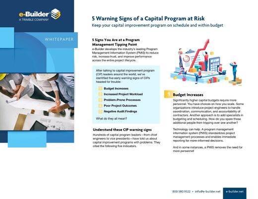 5 Warning Signs Your Capital Program May Be at Risk