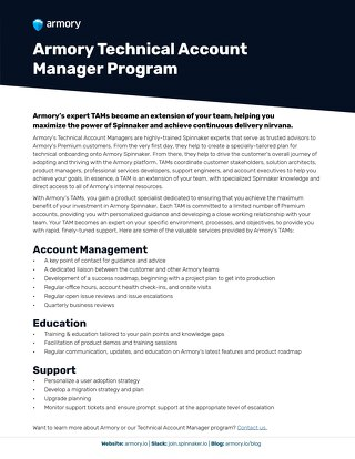 Armory Technical Account Managers