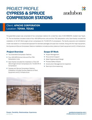 Cypress & Spruce Compressor Stations