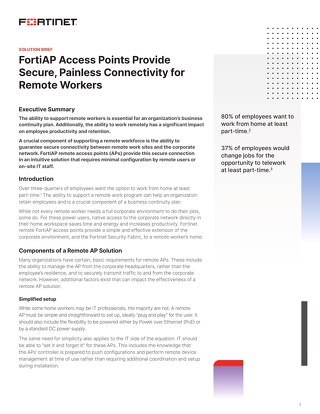 FortiAP Access Points Provide Secure Painless Connectivity