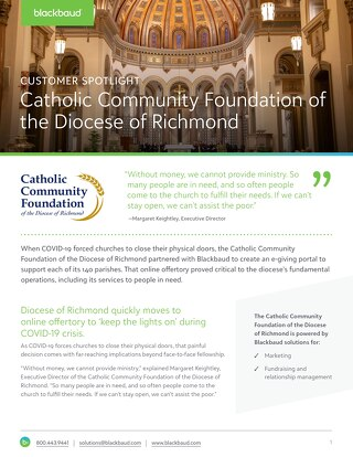 Customer Story: Diocese of Richmond