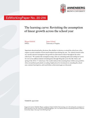 The learning curve - Revisiting the assumption of linear growth across the school year