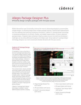 Allegro Package Designer Plus DS