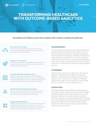 Transforming Healthcare with Outcome-Based Analytics