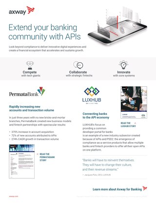 Extend your banking community with APIs