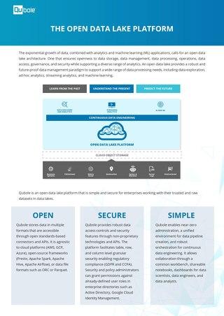 The Open Data Lake Platform Brief