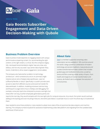 Learn how we helped Gaia implement a data lake platform and migrate from a legacy data warehouse environment