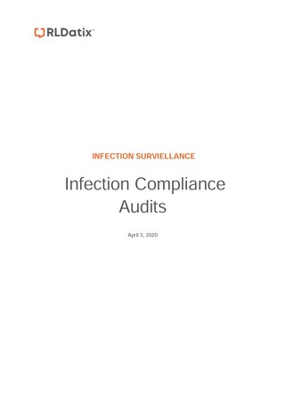 RL6: Job Aid Infection Compliance Audit