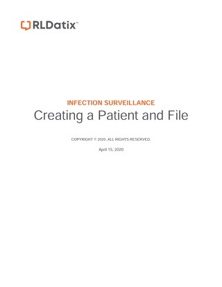 RL6: Job Aid Creating a patient and file