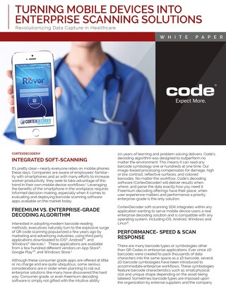 Code Turning Mobile Devices into Enterprise Scanning Solutions