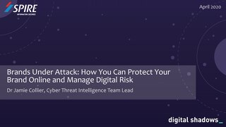 How you can protect your brand online and manage digital risk webinar slides