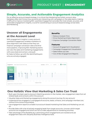 Engagement Datasheet