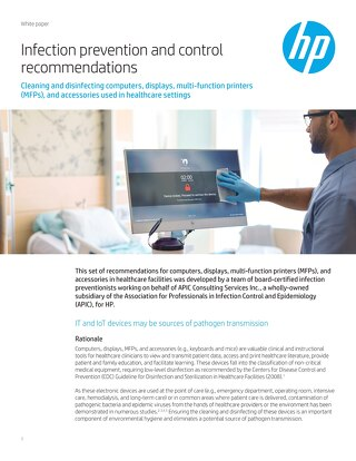 HP Healthcare Infection Prevention