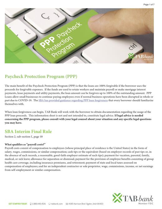 Paycheck Protection Program Q&A