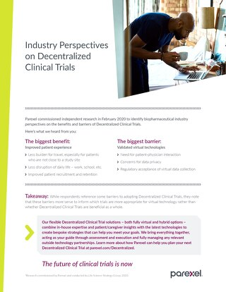 Industry Perspectives on Decentralized Clinical Trials