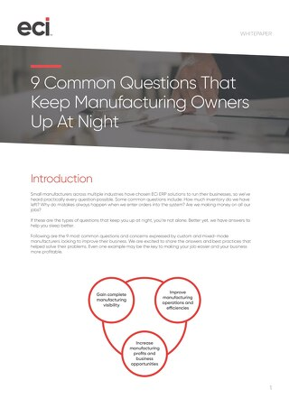 JobBOSS - 9 Common Questions That Keep Job Shop Owners Up At Night