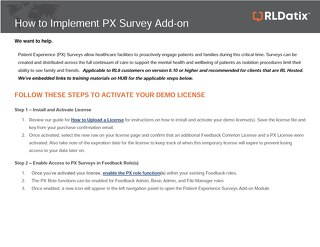 RL6: How to implement PX Survey Add-on