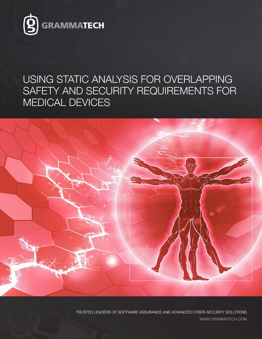 Using Static Analysis for Overlapping Safety and Security Requirements for Medical Devices