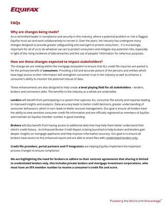 Lender FAQs
