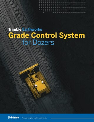 Trimble Earthworks Grade Control Platform for Dozers Datasheet - English