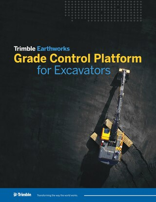 Trimble Earthworks Grade Control Platform for Excavators Datasheet - English