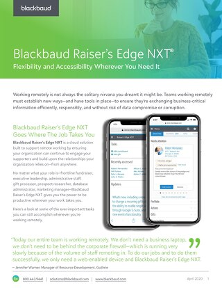 Raiser's Edge NXT Remote Capabilities Datasheet