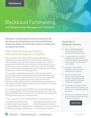 Blackbaud Fundraising Datasheet
