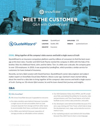 QuoteWizard: Meet the Customer Q&A