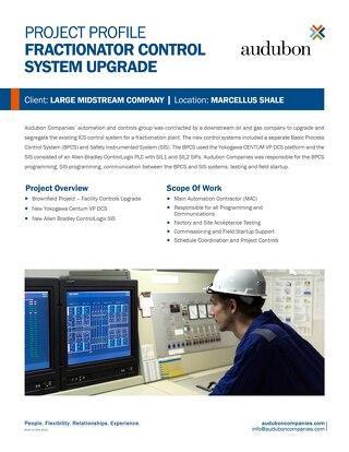 Fractionator Control System Upgrade