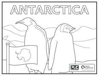 Antarctic Kids Coloring Sheet