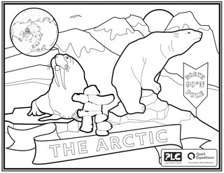 Arctic Kids Coloring Sheet