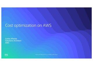 Optimización de costes con AWS