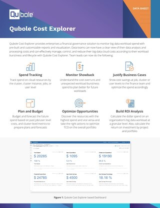Qubole Cost Explorer Datasheet