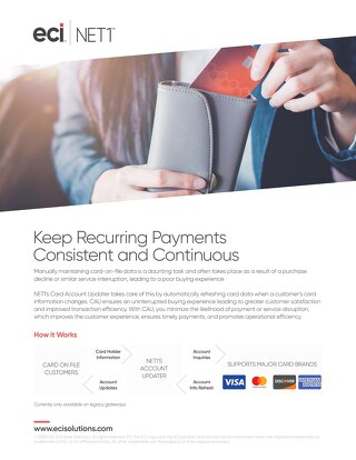 Keep Recurring Payments Consistent